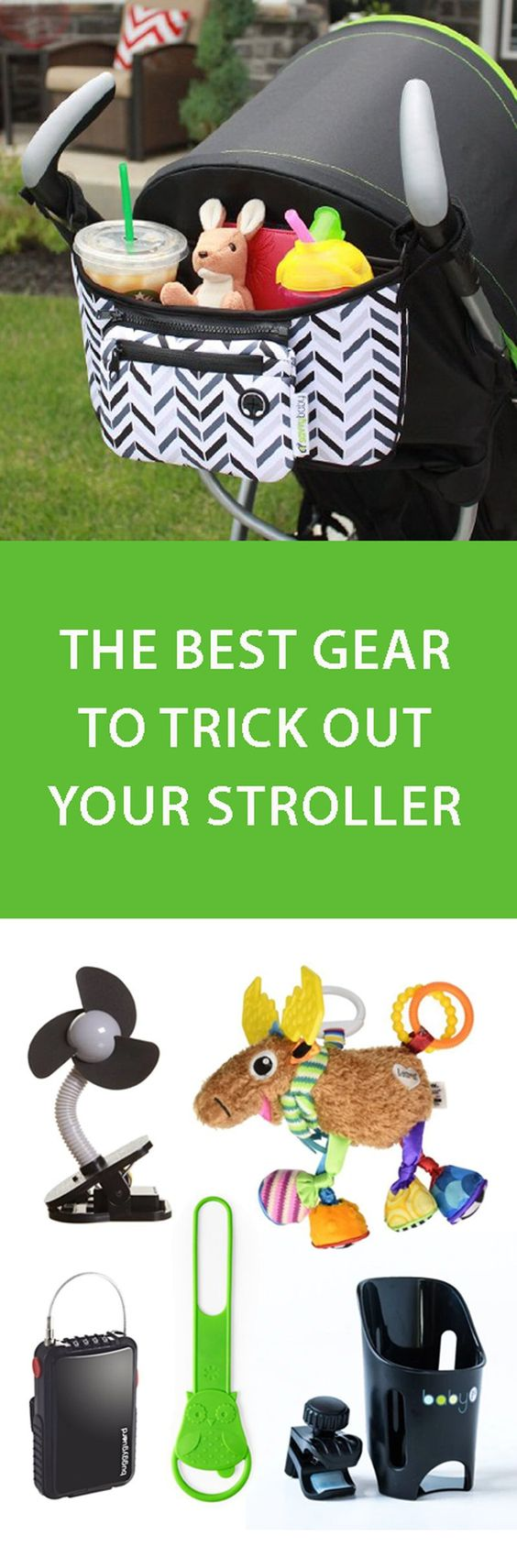 Check out our list of all the best stroller gear, including our favorite cup holders, stroller locks, toys, and sun shields!