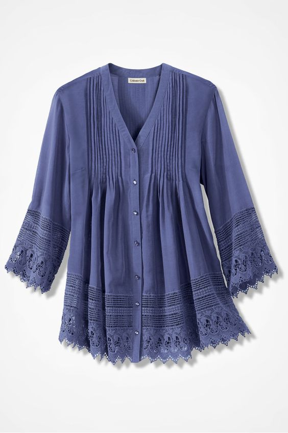 Gracious Lace Blouse - Coldwater Creek Wish I could afford it!