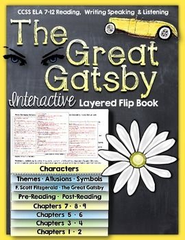The Great Gatsby: Interactive Layered Flip Book ($)