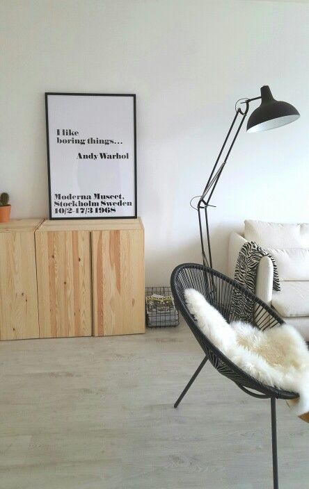 living room andy warhol quote acapulco chair zuiver lamp cactus ikea ivar home. Black Bedroom Furniture Sets. Home Design Ideas