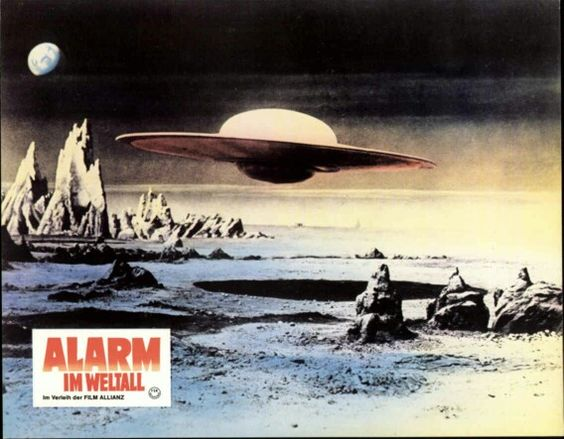German lobby card set for ' Forbidden Planet'