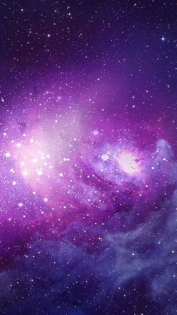 Purple Space with Stars! <3