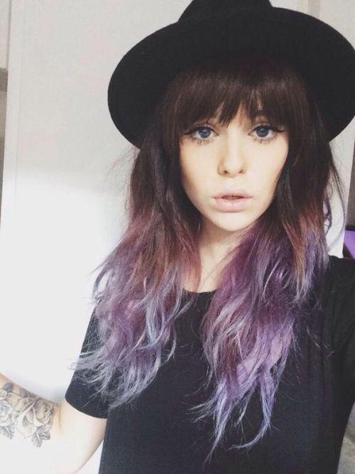 Hat Hair Cute Brown Hair Purple Hair Cute Girl Pastel Hair Colored