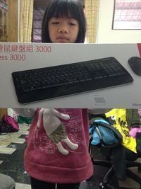 微軟 Microsoft 無線滑鼠鍵盤組3000(黑)(藍光技術),得標價格7元,最後贏家黃苡瑄: 感謝快標網讓我得標 謝謝