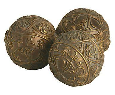 Jogo de Esferas Decorativas Bartira