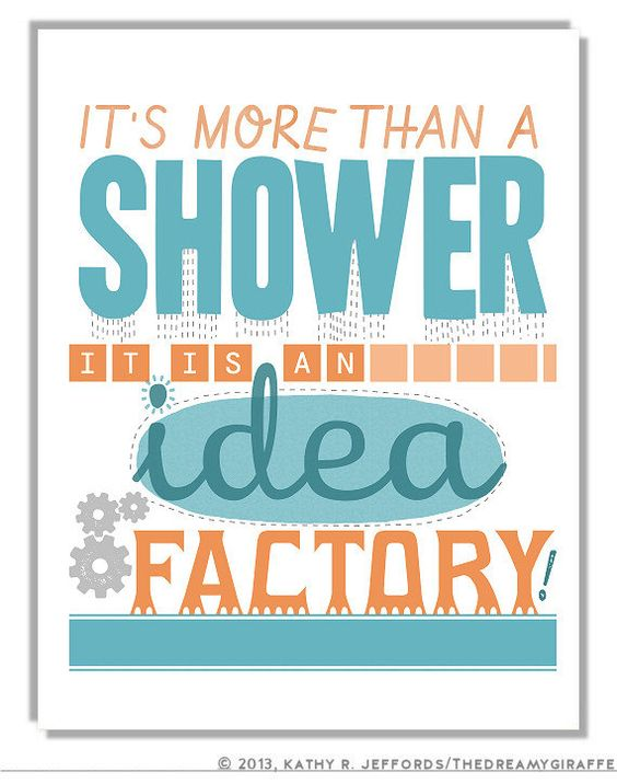 print bathroom quote poster writer gift bathroom idea unique art print