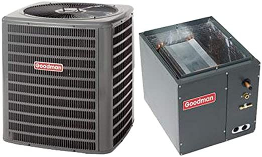 Goodman 2 5 Ton 14 Seer Condenser With Upflow Downflow Coil Gsx160311 Capf3137b6 3 8 X7 In 2020 Air Conditioner Condenser Air Conditioner Btu Air Conditioning System