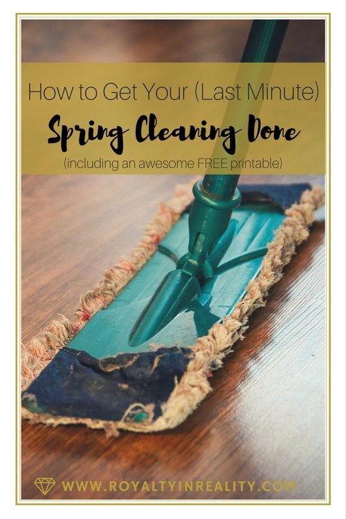 Life happens and we all get behind sometimes. If you still haven't gotten your spring cleaning done, don't worry! Use this FREE checklist to get it done one room at a time!