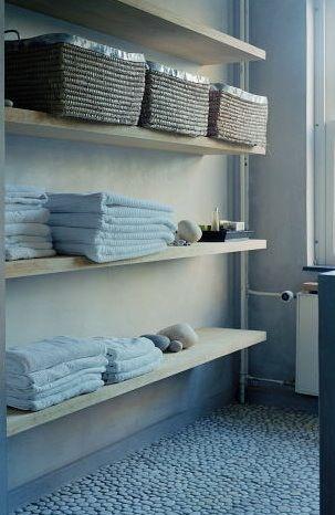 Bathroom open storage