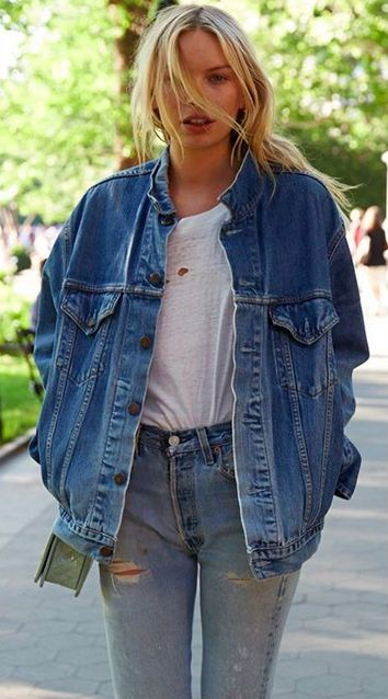 oversized denim jacket, please come to me!