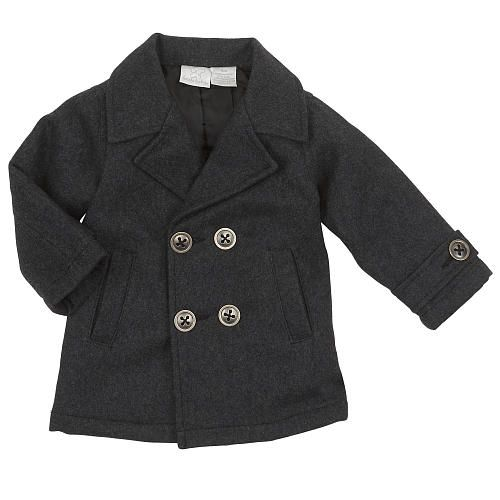 Koala Baby Boys Gray Pea Coat - Babies R Us - Babies &quotR&quot Us