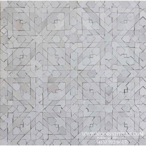 Kitchen Tile White Moorish Tiles