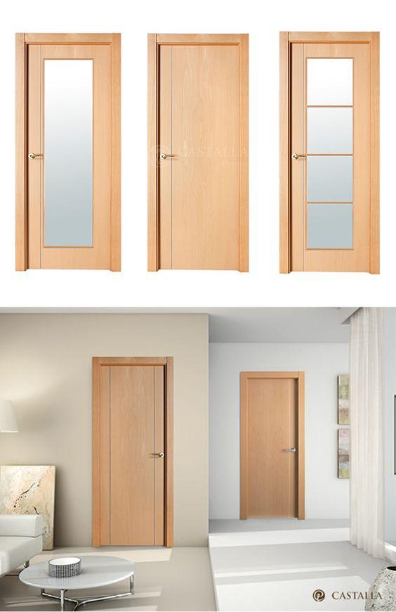 Puerta de interior clara modelo berl n y sof a de la for Catalogo de puertas de madera para interiores