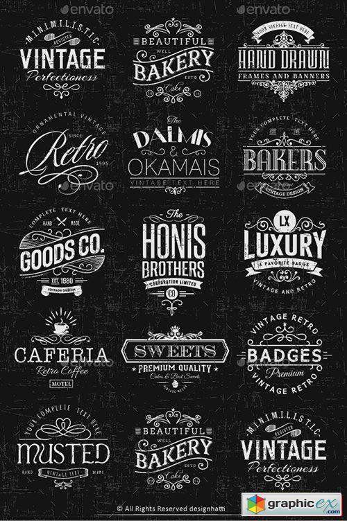 Artsy Vintage Retro Insignia And Logos Vol 01 Logo Design Inspiration Vintage Logo Inspiration Vintage Vintage Typography