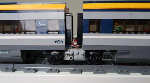 Dual Lego City Passenger Train 60197 Sets Modified With Jacobs Bogies Trein
