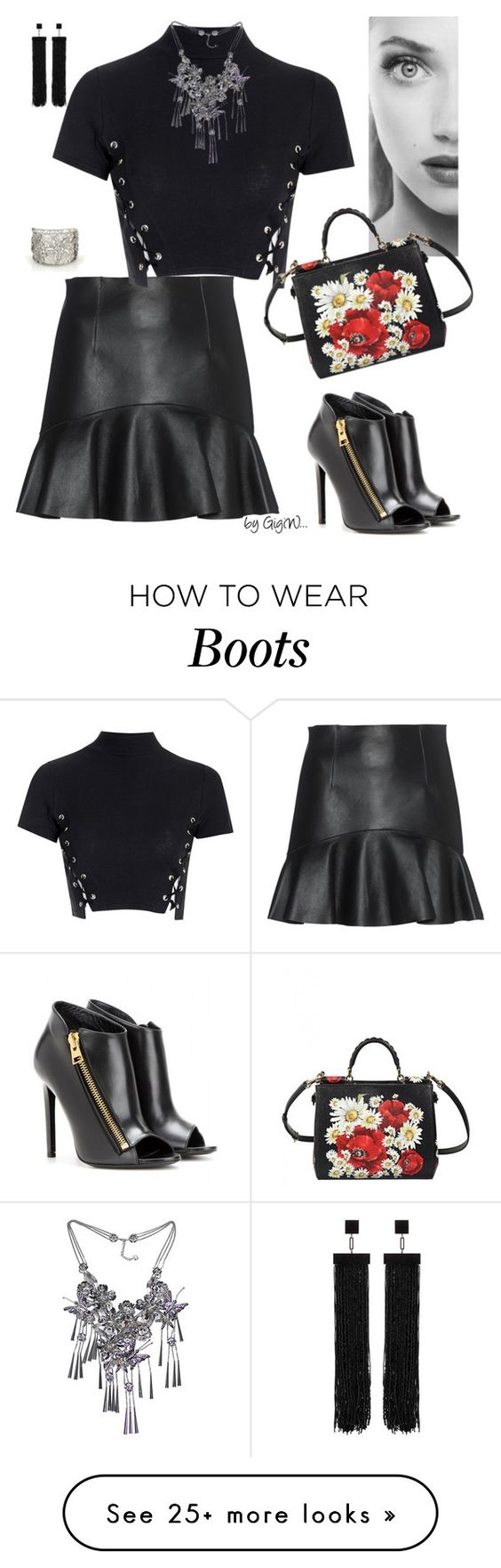 """""""dash of color"""" by gigiwhoot on Polyvore featuring Dsquared2, Glamorous, Dolce&Gabbana and Tom Ford"""