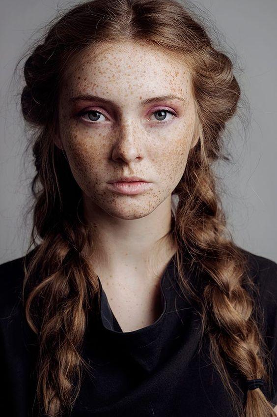 hair/ // freckles, braids, & beautiful light //