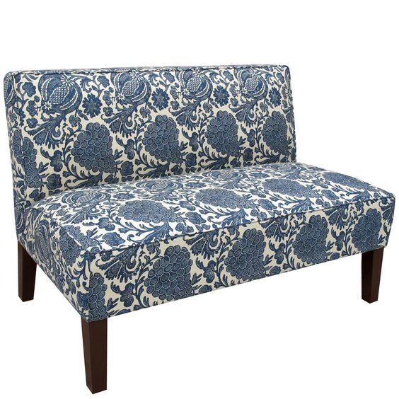 Made to Order Armless Settee | Overstock.com Shopping - Great Deals on Sofas & Loveseats