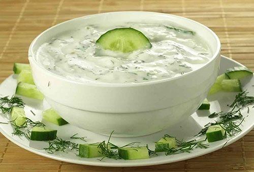 طريقة عمل سلطة الزبادي بالثوم والمايونيز فى المنزل Cucumber Sauce Healthy Cheese Dip Tzatziki