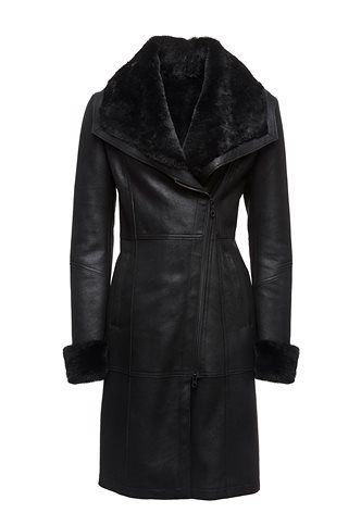 Danier Official Store Arabella Shearling Coat black Women