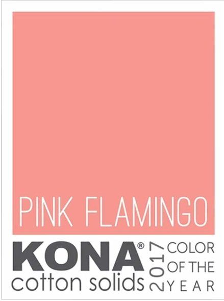 **Pre-Order Kona Solid - Color of the Year COTY Pink Flamingo: