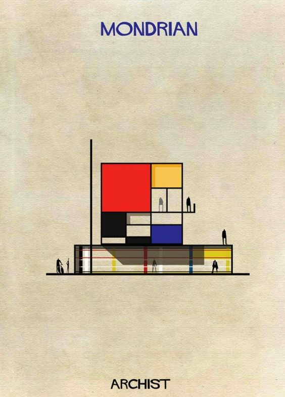 architecture mondrian and dali on pinterest. Black Bedroom Furniture Sets. Home Design Ideas