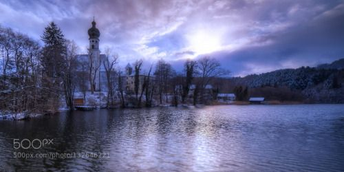 da schnee by DeSelby  DRI affinity clouds free state of bavaria höglwörth sun winter da schnee DeSelby