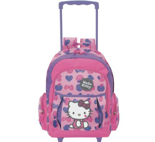 Hello Kitty Rolling Backpack Zebra *** Visit the image link more ...