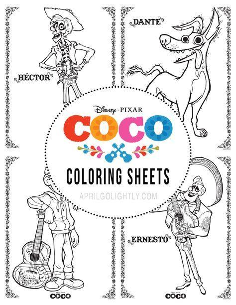 Free Disney Pixar Coco Printables Disney Pixar Disney Coloring