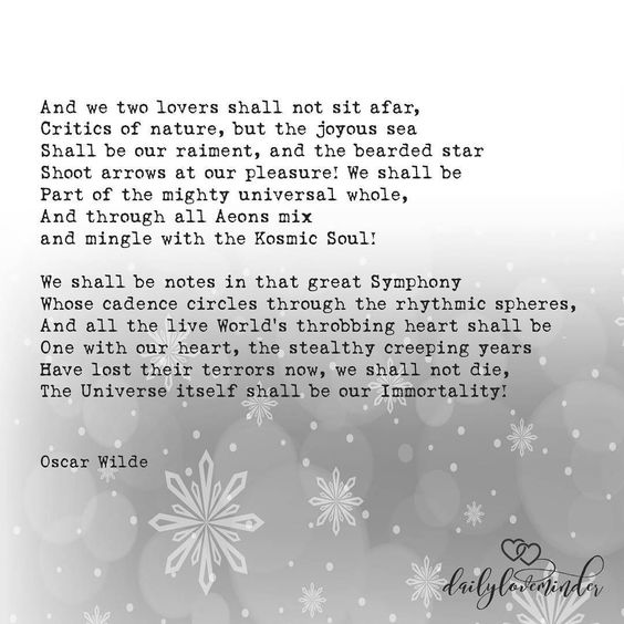 Image result for We Are Made One with What We Touch and See' by Oscar Wilde