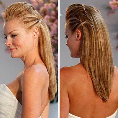 Long hair wedding styles straight