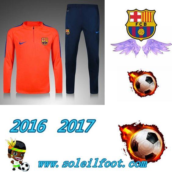 Liga: Survetements Enfant FC Barcelone Enfant Rouge 2016-2017 Chine Pas Chere