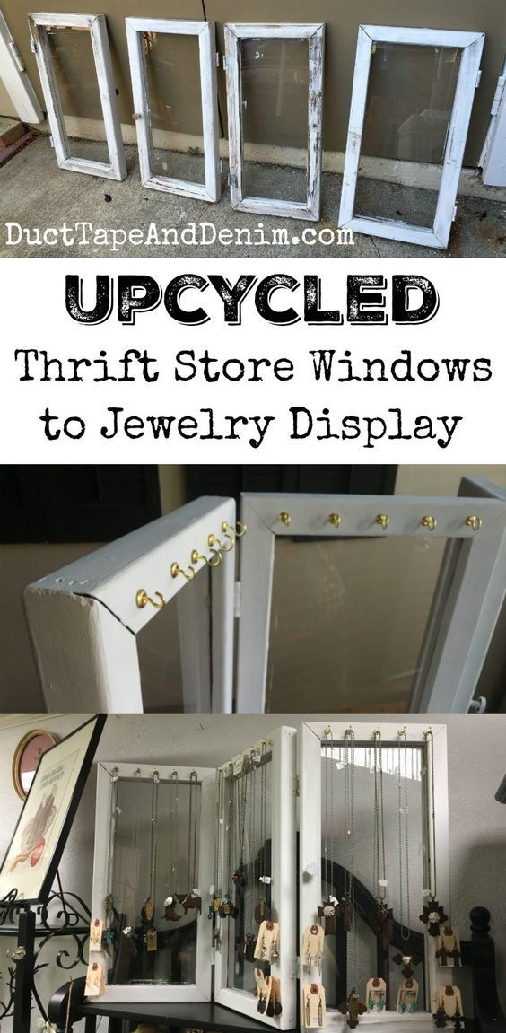 Thrift stores store windows and window on pinterest for Jewelry store window displays