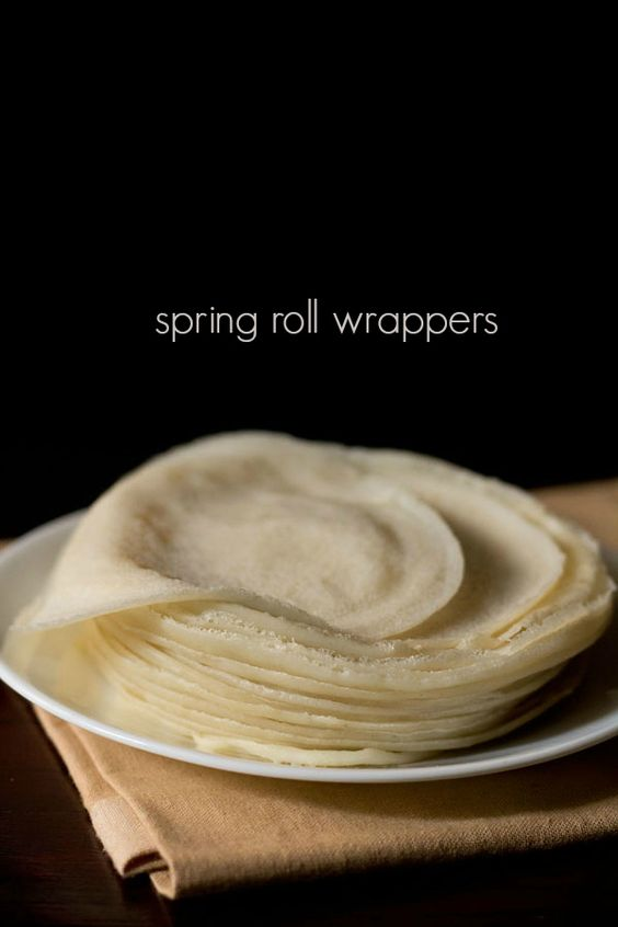 spring roll wrappers recipe - easy batter method to make spring roll wrappers at home.
