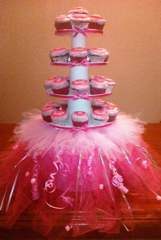 homemade cupcake stand | Imagination Cupcake: Tu-Tu Finished!