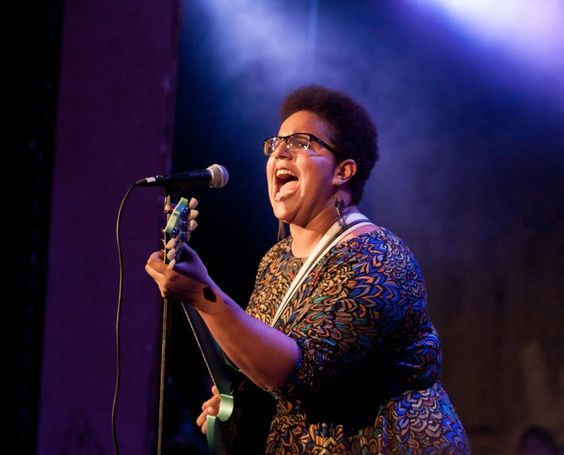 New hairdo, same killer voice. Brittany Howard of current GRAMMY nominees Alabama Shakes hits a high note during a performance at the Second Annual Tuscaloosa Get Up! concert on Dec. 19 in Tuscaloosa, Ala.
