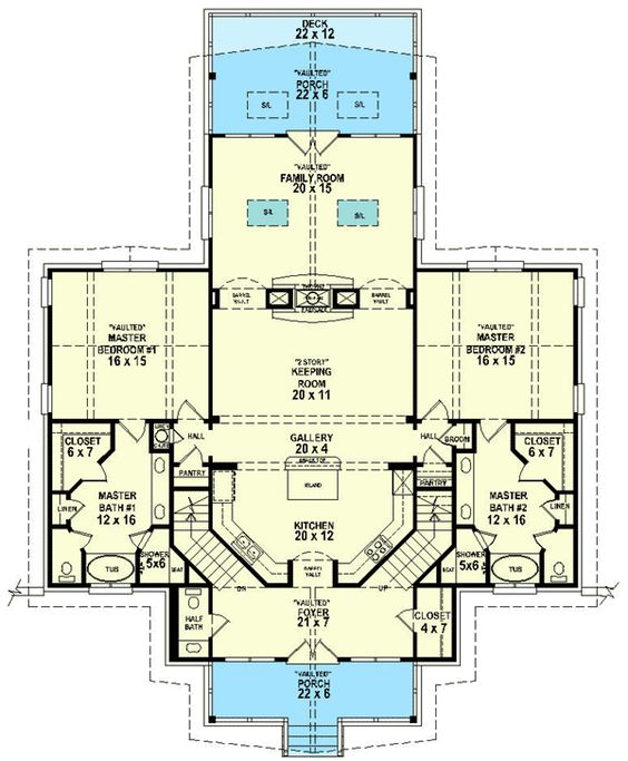 Master suite masters and floors on pinterest for 1st floor master house plans