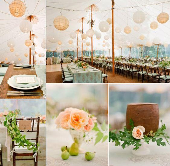 Outdoor weddings wedding ideas and tent on pinterest for Outdoor wedding bathroom ideas