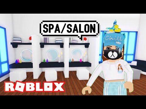 I Made Spa Salon Design Ideas Building Hacks Roblox Adopt Me Nail Polish Hair Wash Makeup Youtube In 2020 Washing Hair Salon Design Spa Salon