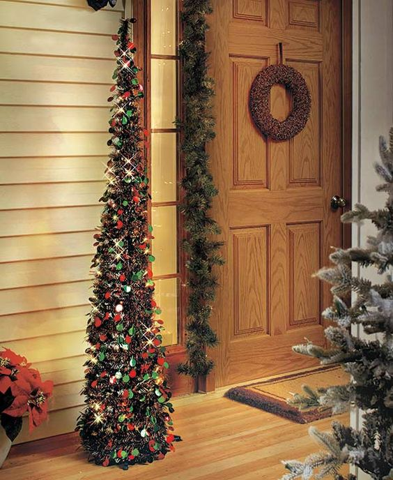 Funny Indoor Christmas Decorations : Lighted christmas trees and white led