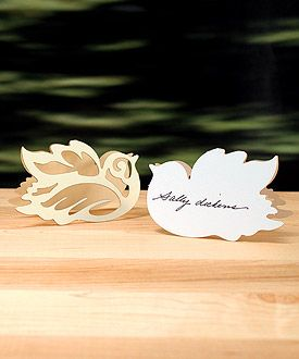 Laser Expressions Love Bird Damask Folded Place Card -I have these!