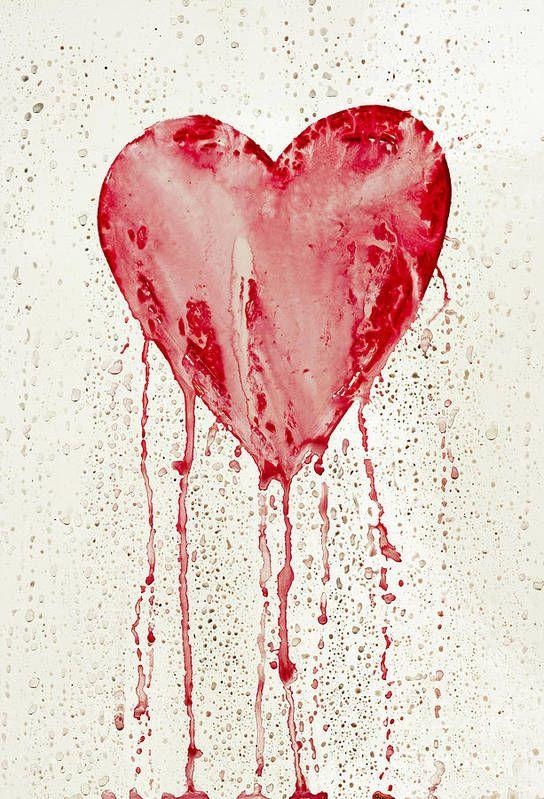 Broken Heart Bleeding Heart Art Print By Michal Boubin In 2021 Broken Heart Art Heart Drawing Broken Heart Drawings Blood heart wallpaper hd