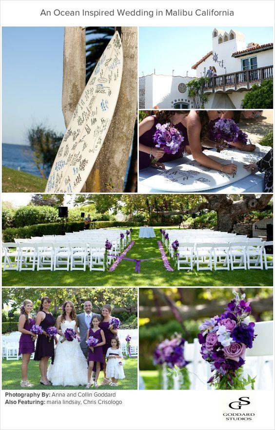 A beautiful Wedding in Malibu, inspired by the ocean.