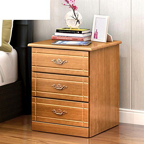 Ewygfrfvqas All Solid Wood Bedside Table Bedroom Storage Cabinet Lockers Multifuncti Solid Wood Bedside Tables Bedroom Storage Cabinets Simple Bedside Tables