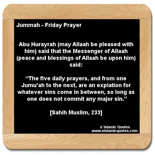 hadith on jummah, Islamic quotes http://www.eislamicquotes ...