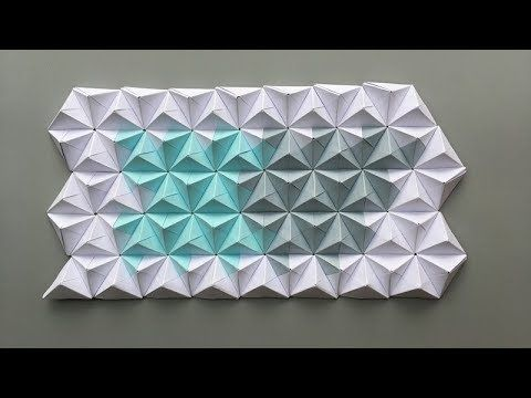 Abc Tv How To Make 3d Origami Wall From Paper Craft Tutorial 3d Origami Origami Remesla