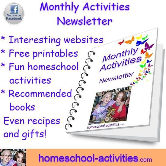 Free Monthly Newsletter Full Of Activities For Kids Of All Ages
