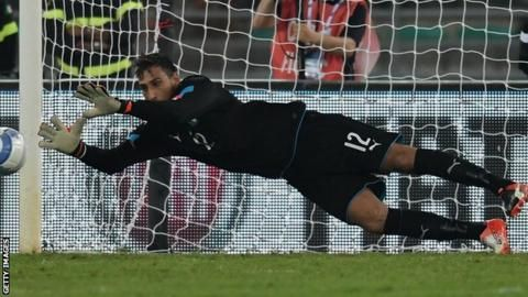 Gianluigi Donnarumma: AC Milan goalkeeper makes Italy debut at 17 - BBC Sport