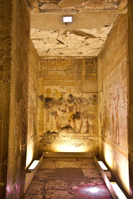 Абидос, Египет.  Храм на Сети л