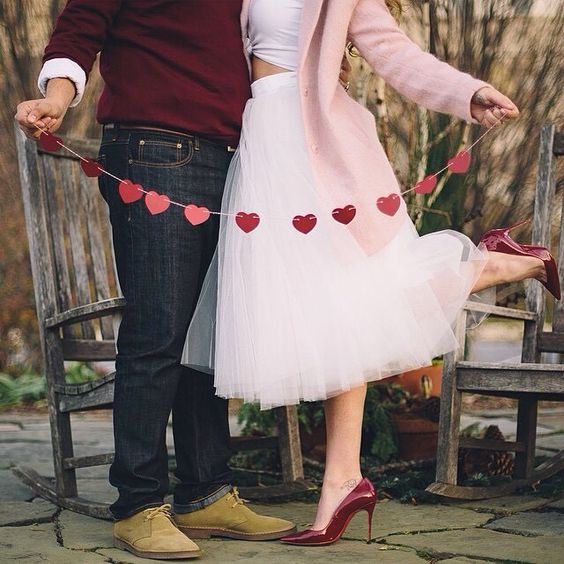 Ivory tulle skirt, couple photoshoot, valentines, sweetheart, red pumps shoes: